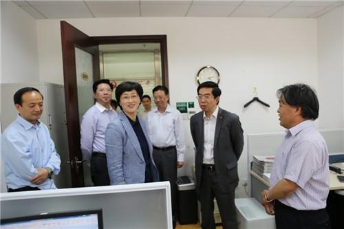 中共上海市委领导走访民进上海市委机关 胡卫等迎接